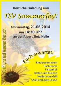 Flyer TSV Sommerfest 2014